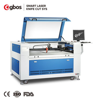 Gbos Camera Capture CNC CO2 Laser Cutter And Engraver For Woven And Embroidery Label Logo