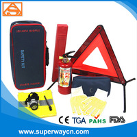 Car safety kit SW2156 wih fire extinguisher and reflecetive trangular