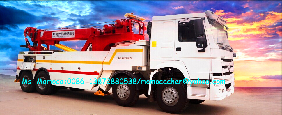 12 wheelers heavy duty tow truck towing truck mounted crane under lift wrecker truck of HOWO