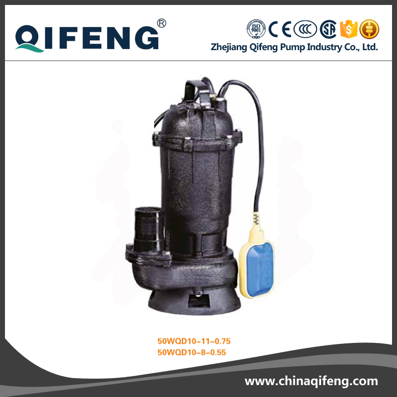 WQD Stainless steel submersible sewage pump with cutter