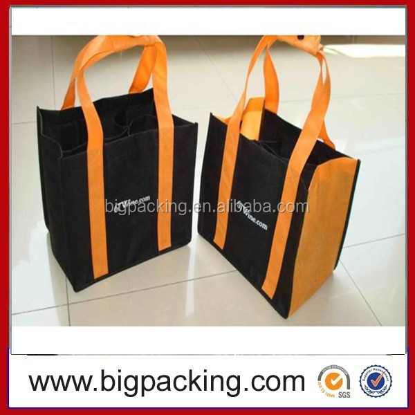Reusable customzied logo printing pp non woven wine bag/wine bottle bag/wine bag