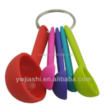 Measure spoon ,5 pcs silicone measuring spoons