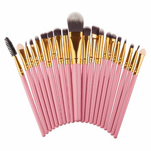 20pcs Foundation Eyebrow Lip Eyeliner <strong>Brush</strong> Tool Eye Makeup <strong>Brushes</strong> Set Eyeshadow Blending <strong>Brush</strong>
