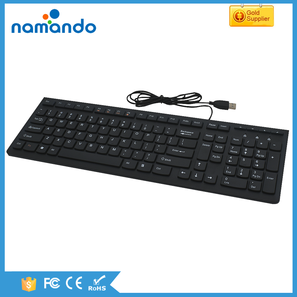 2017 new ultrathin chocolate keyboard USB wired multimedia computer keyboard from namando factory
