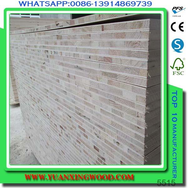 melamine blockboard with albazia core
