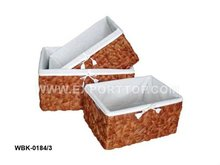 Storage Basket with fabric line (Skype: july.etop)