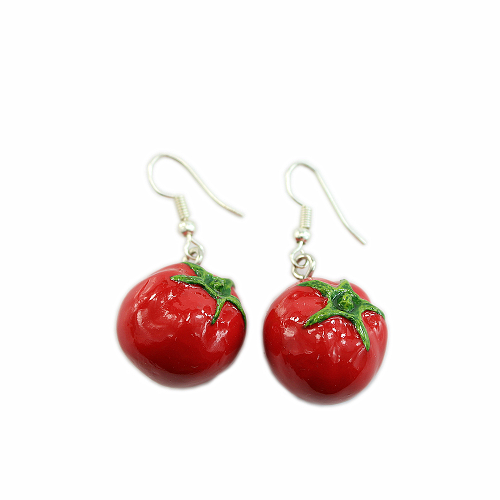 vegetable craft artficial tomato colorful earring