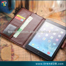 fashion wallet kidstand design leather case for ipad mini 2