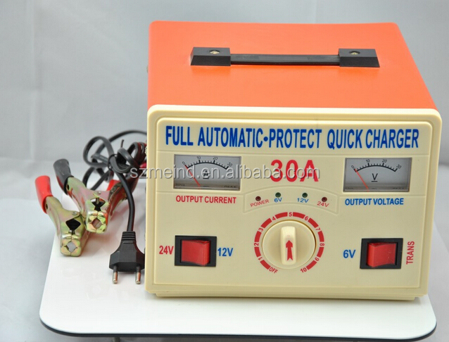 6V /12V /24V 30a automatic battery charger for sealed lead acid battery