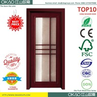 Environment-frinendly office wood door with glass