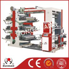 6 color plastic film flexo printing machine