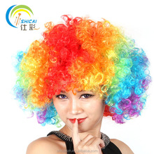 Fans explosive head wig dance bar wedding party dress performance props wig Funny fluffy funny clown wig caps