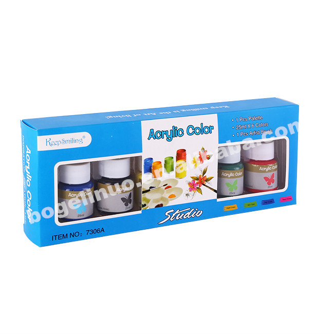 6 colours acrylic paint set for children
