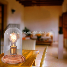 Home decoration popular Loft antique country style wrought iron vintage table lamp With Edison Bulb