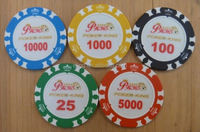 14 Gram Colorful Clay Poker Chips top clip mp3 player
