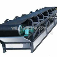 Mineral ore belt conveyor for mining plant