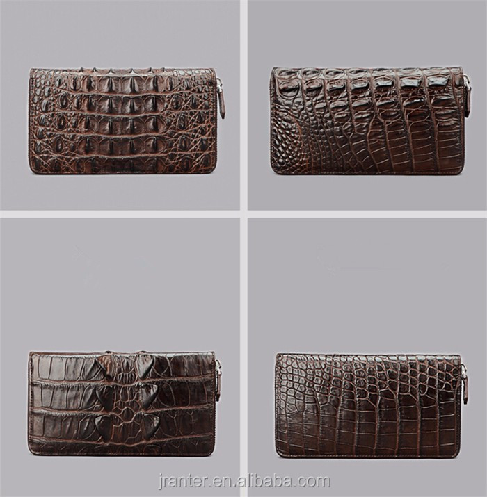 Fashion Luxury Handmade Men Business Wallet Real Crocodile leather Clutch Wallet Men_6
