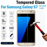 Premium 0.3 mm 9H Hardness 2.5D Tempered Glass Screen Protector for Samsung Galaxy S7