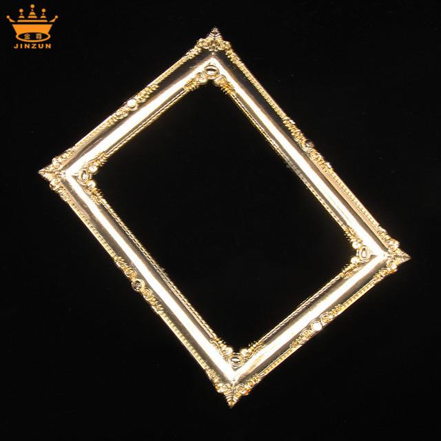 China manufacturing brown round bulk frames high quality decorative plastic mirror frames plastic ornate frame