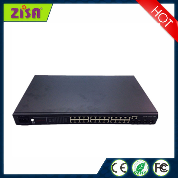 ZISA FULL managed S4700-28T industrial 24 port gigabyte ethernet switch