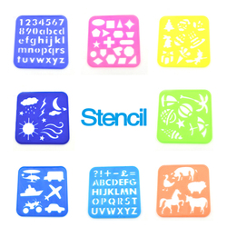 2018 factory supply custom Plastic drawing stencils art set for kids