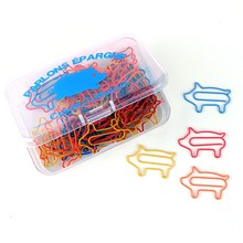 Promotional gift pig shape custom paper clip