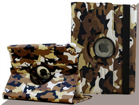 New Camouflage Leather Case for Ipad 2 3 4 5 6 Smart Cover 360 Full Revolve Flip Case Skin Stand Funda for Ipad Mini 1 2 3 4
