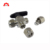 Stainless steel 304 compression double union high pressure 6mm instrument 3 way ball valve