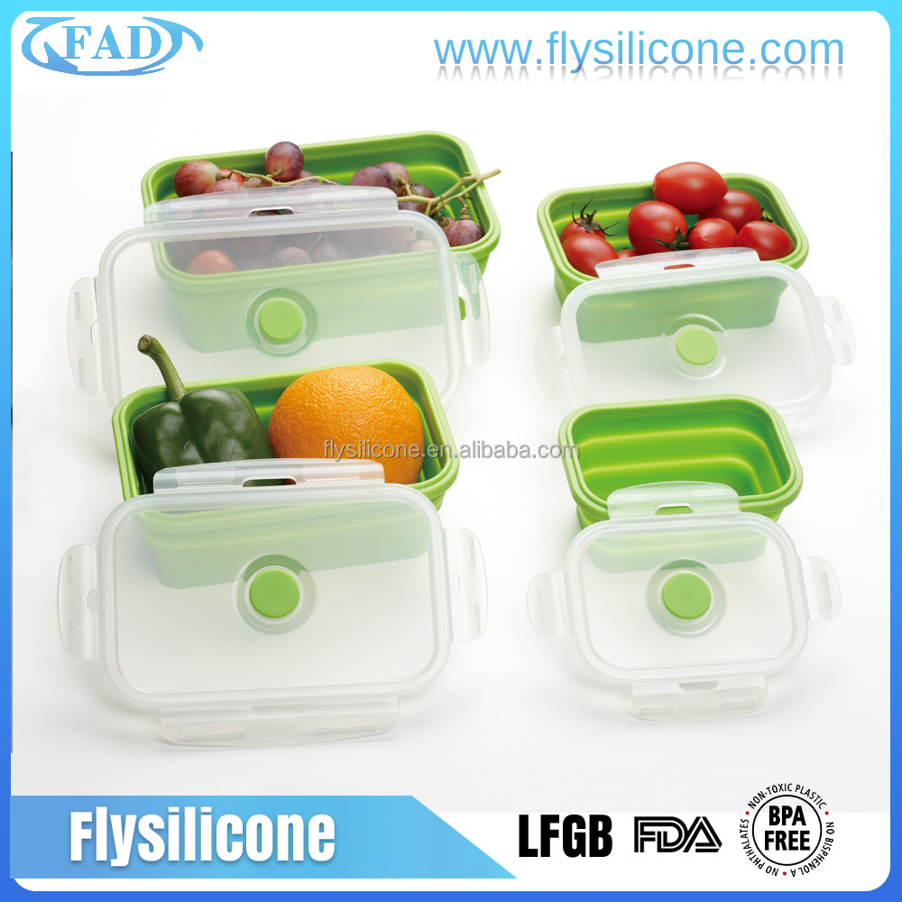 Foldable Hygiene Silicone Food Savers Food Storage Containers