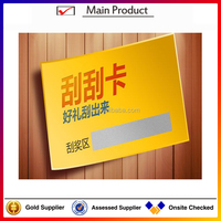 Restaurant scratching voucher/discount card cheap, irregular business cards