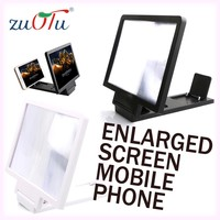 2016 new design 3d folding portable amplifier enlarged screen for mobile phone