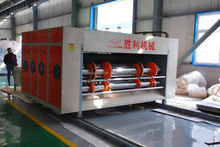Carton printing machinery vertical large roller printing& slotting carton package manufacturing machine