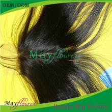 Brazilian silk based closure middle parting with bleached knots can sewn clips easy to wear coarse yaki hair closure