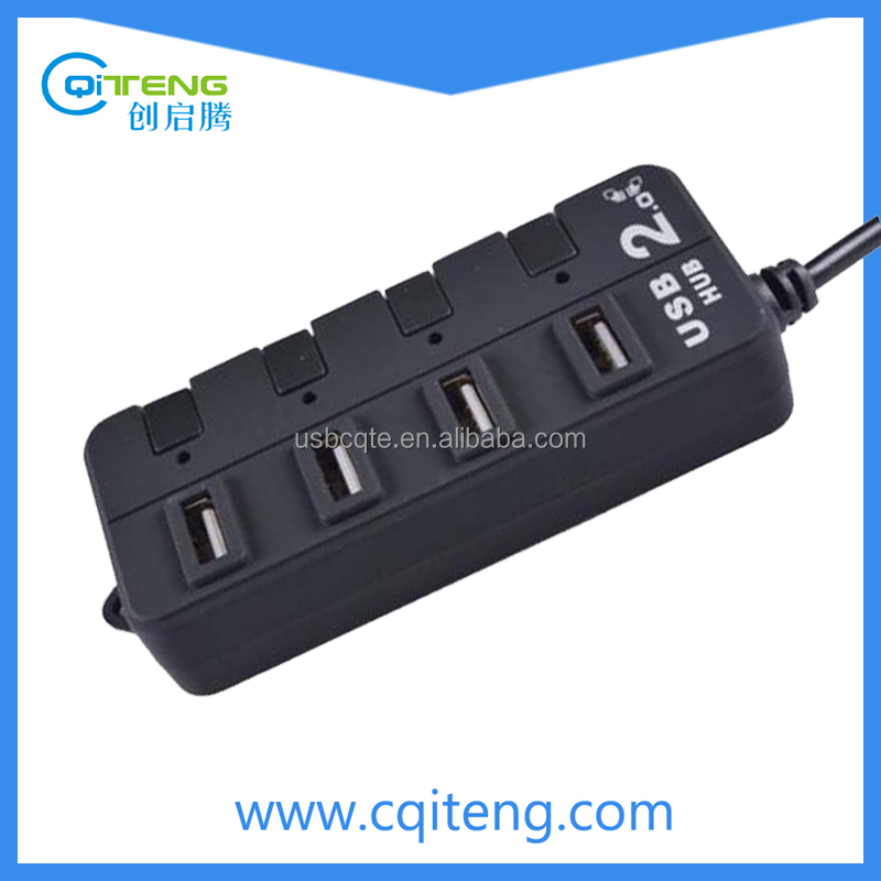Factory supply portable fashional cute usb por hub suppliers usb por hub manufacturer 4 port with individual switch