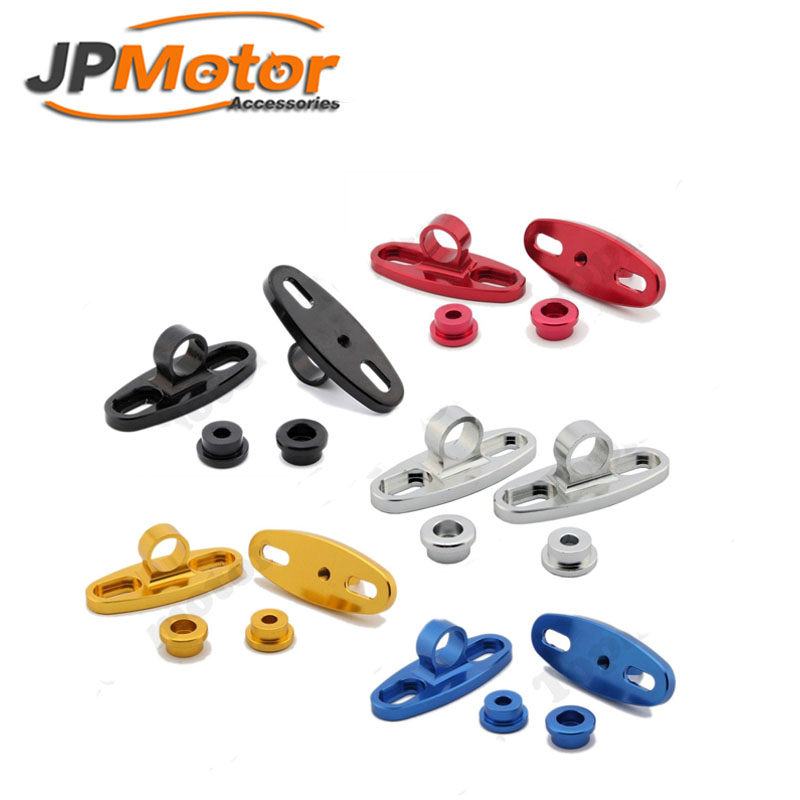 JPMotor - 1 Pair Universal Motorcycle CNC Rearview Mirror Fairing Adapter Holder Mount