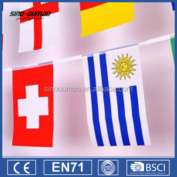 High Quality Custom Felt Triangle Pennant Flags For Sport
