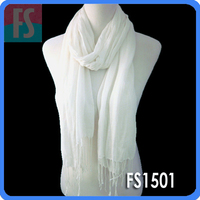 100% cotton scarf with fringe,custom scarf women china factory