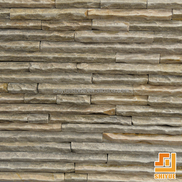 High Quality Yellow Landscaping Natural Cultural Stone Slate Culture