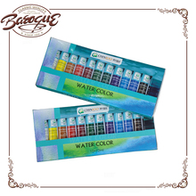 Promotional non-toxic kids water colour paint for drawing water coloring, mini poster water colour set for school