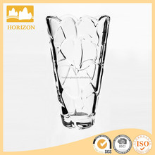 crystal oval glass vase for home decoration
