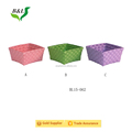 Colorful pp handmade plastic basket for sundry