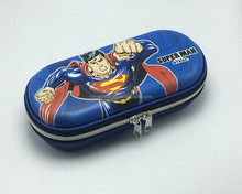 EVA pencil case superman hard shell school boys stationery bag pen box gift primary