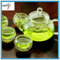 Hot selling cheap high quality clear glass tea set pot with cup