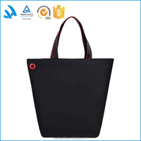Trade assurance manufacturer custom black heavy canvas tote shopping bag