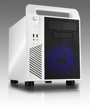 2015 newest top window front mesh slim micro ATX cube computer case white with card reader and USB3.0