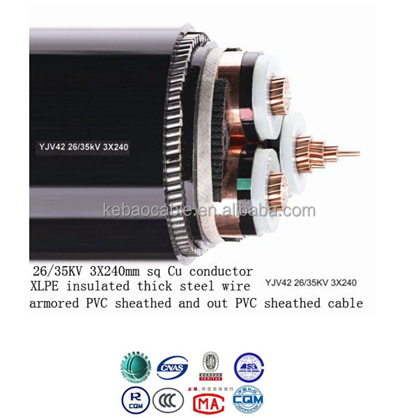 cheap 240mm xlpe 4 core armoured cable