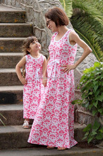 2017 new style summer baby girl maxi dress for mommy and me