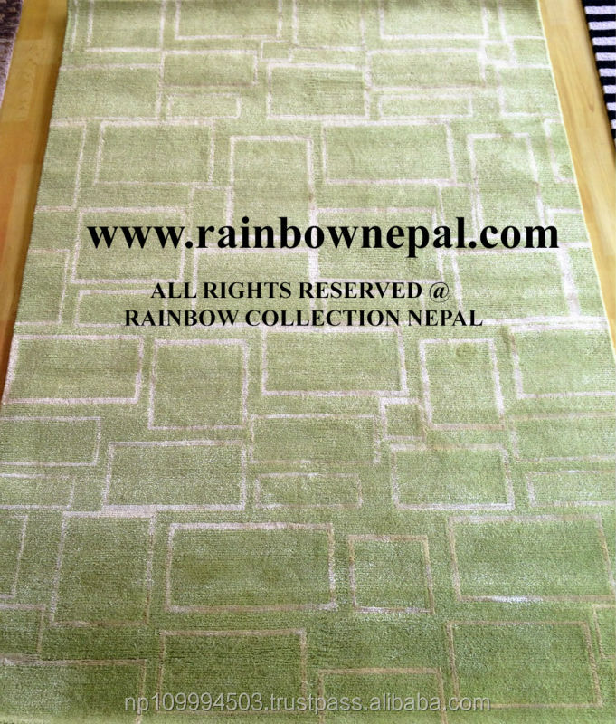 Nepal Hand Knotted Allo, Silk, Wool Carpet Rug 300x350cm