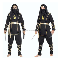 adult men's Ninja Assassin costume black warrior cosplay halloween costume