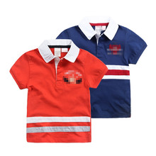 Babys Girls And Boys Preppy Style 100% Cotton Polo T-shirt China Supplier Clothing